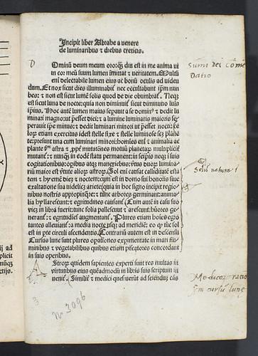 Title incipit from Abraham ibn Ezra: De luminaribus et diebus criticis