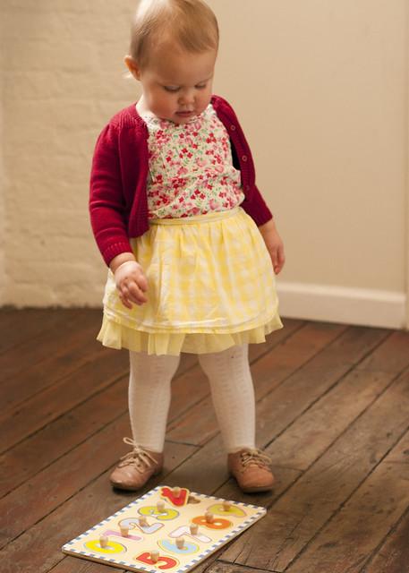 93f7d7ec3 Sweater: Gap Kids Floral Top: Thrifted Skirt: Target Tights: Walmart Shoes:  Zara (gift from Baby Blackbird)