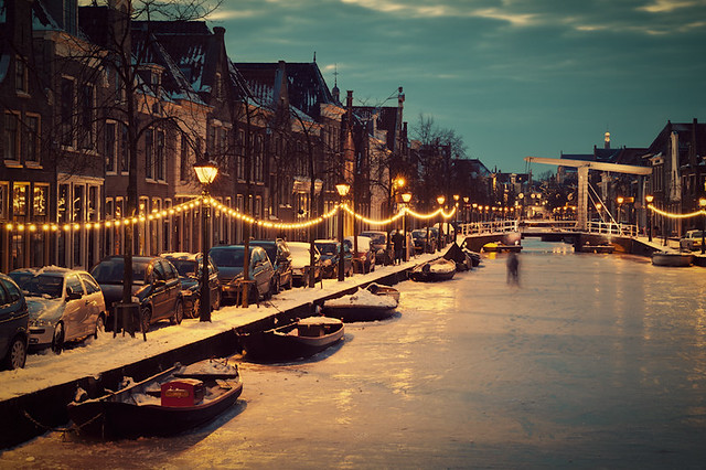 Frozen Dutch Canal