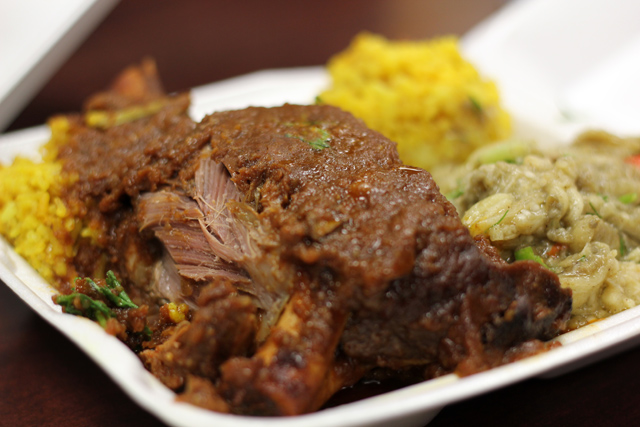 Lamb Shank Plate at Da Spot