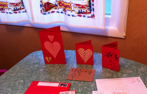 our family valentines at breakfast