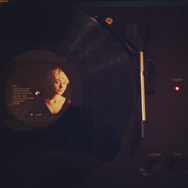 My girl #jessicaleamayfield #vinyl #recordplayer