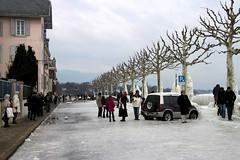 Tourists ... Lac Léman Ice Storm, Versoix, February 2012