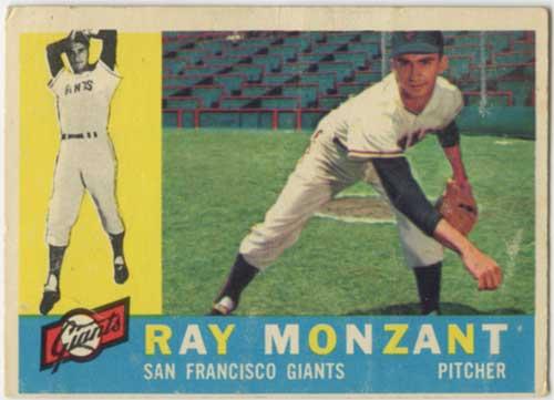 1960 Topps Ray Monzant