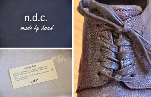 NDC made by hand shoes