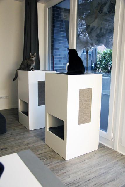 cattower 2 miu neko stylish self designed cat tower. Black Bedroom Furniture Sets. Home Design Ideas
