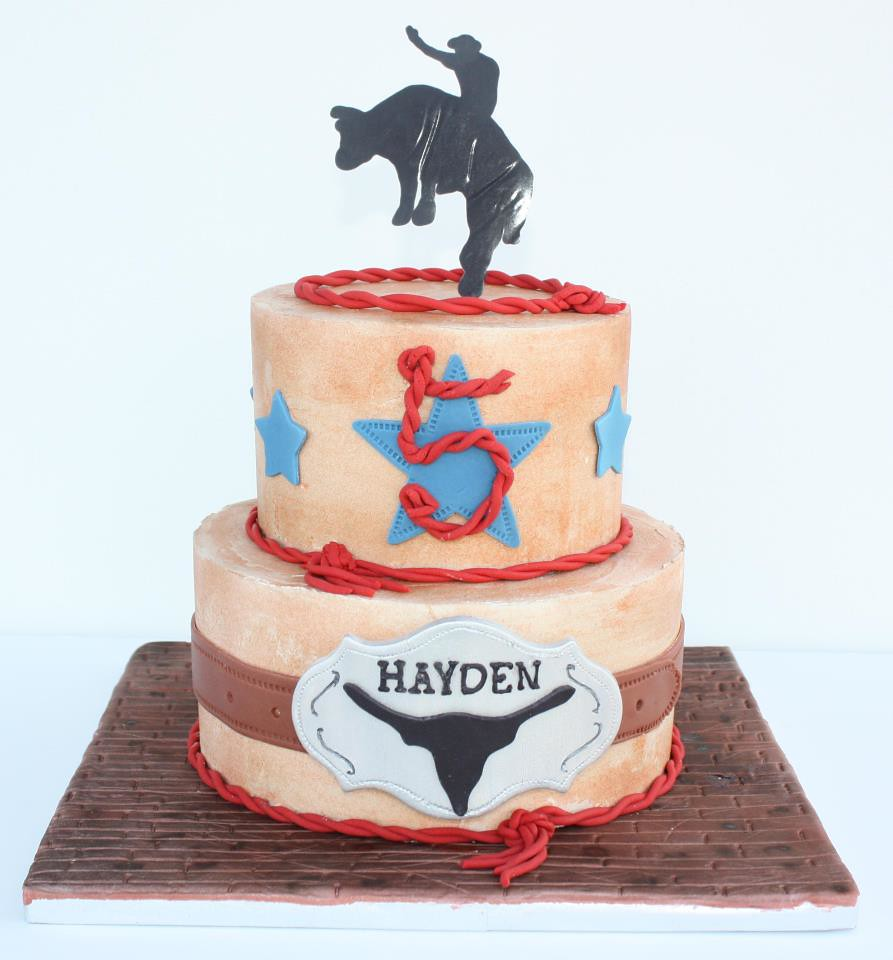 Bull Rider Cake Iced In Smbc Gp Decorations Bull