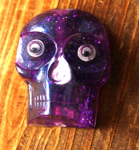 Finished Ice Resin Skull Pendant