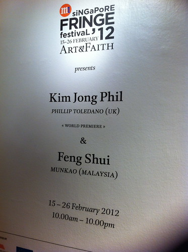 M1 Singapore Fringe Festival 2012 - Art & Faith