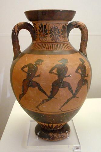 Athenian black figure pseudo panathenaic amphora greece me for Ancient greek cuisine