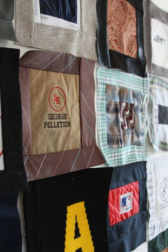Memory Quilt Made From Pepere's Clothing