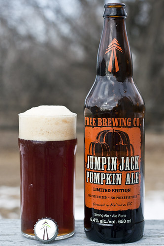 Review: Tree Brewing's Jumpin Jack Pumpkin Ale by Cody La Bière