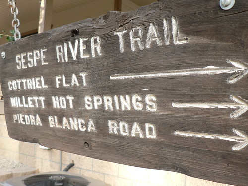 Sespe River Trail Sign