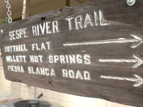 Sespe River Trail Sign