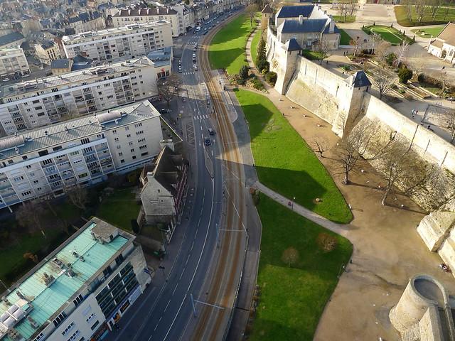 Le château de Caen (Calvados-FR)