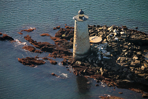 Whaleback Lighthouse aerial by nelights