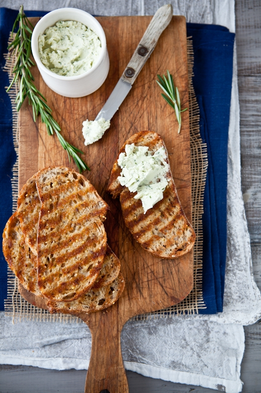 Herb Goat Cheese Tartines