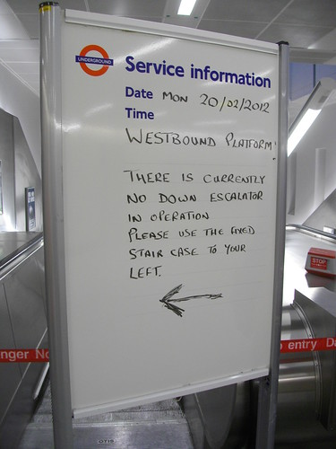 Escalator Notice by Paul Robertson