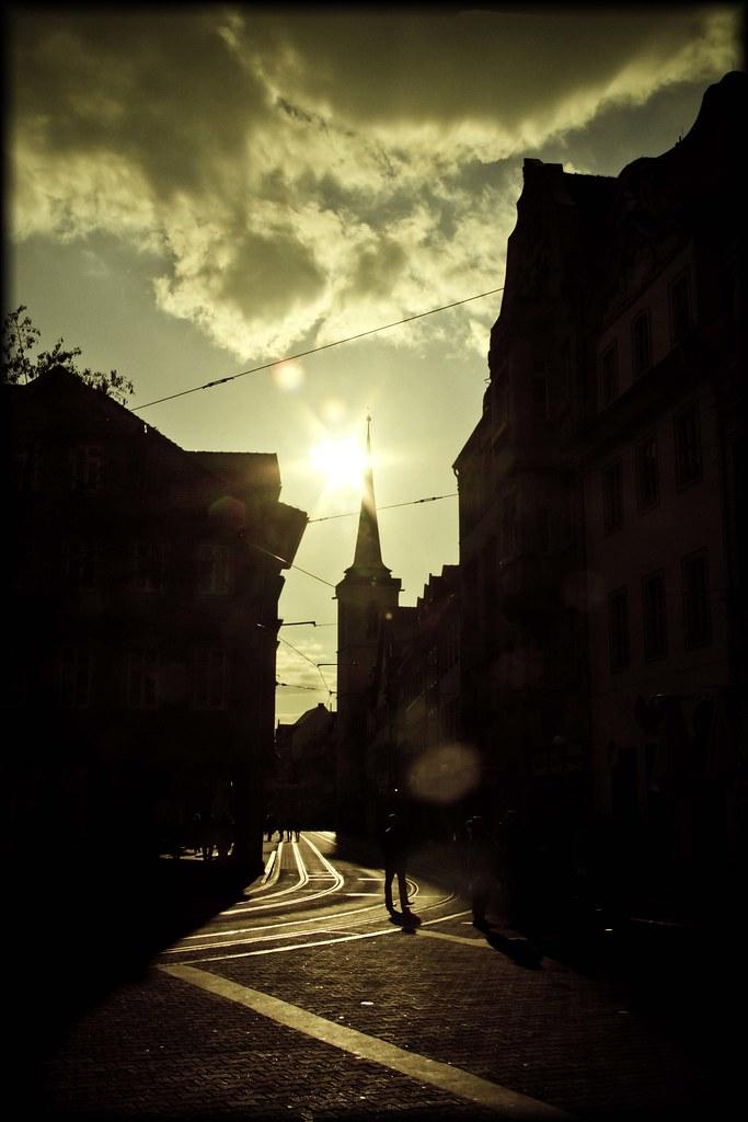 sunlit church