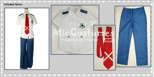 Macross Frontier Alto Saotome Cosplay Costume_1