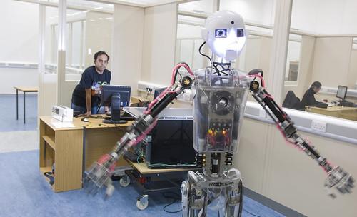 RoboThespian at the Bristol Robotics Laboratory