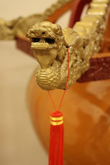 Jiangu (barrel drum) detail, from China