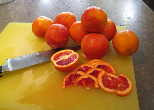 prepping blood oranges