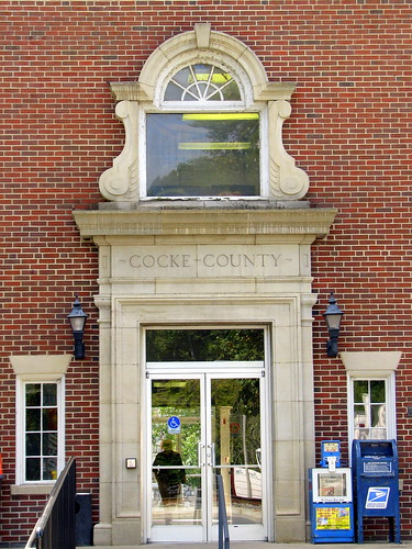 Cocke County Courthouse - rear entrance