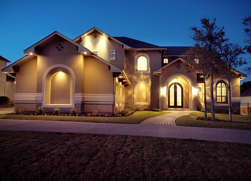Rock Ranch Style Stucco Homes