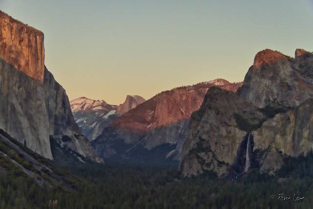 First view of Yosemite Valley