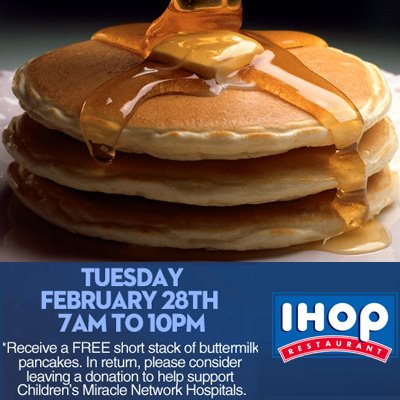Feb-28-2012 IHOP for Children's Miracle Network Hospitals
