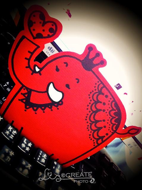 紅大象卡片