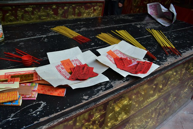 Kuan Tai Temple offerings