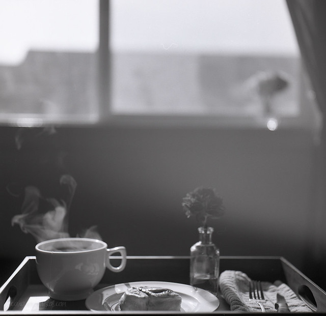 hazy lazy breakfast, ilford, self-developed.