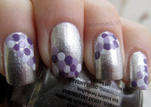 Silver with Purple Dots
