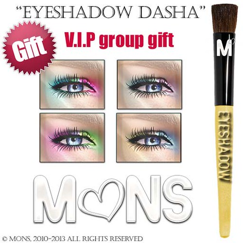 MONS Makeups - eyeshadow dasha GIFT by Cherokeeh Asteria