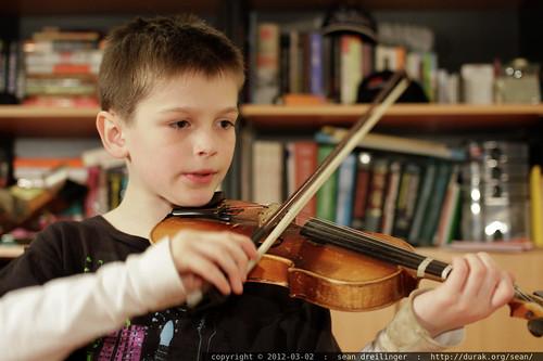 nick practices violin - _MG_9737