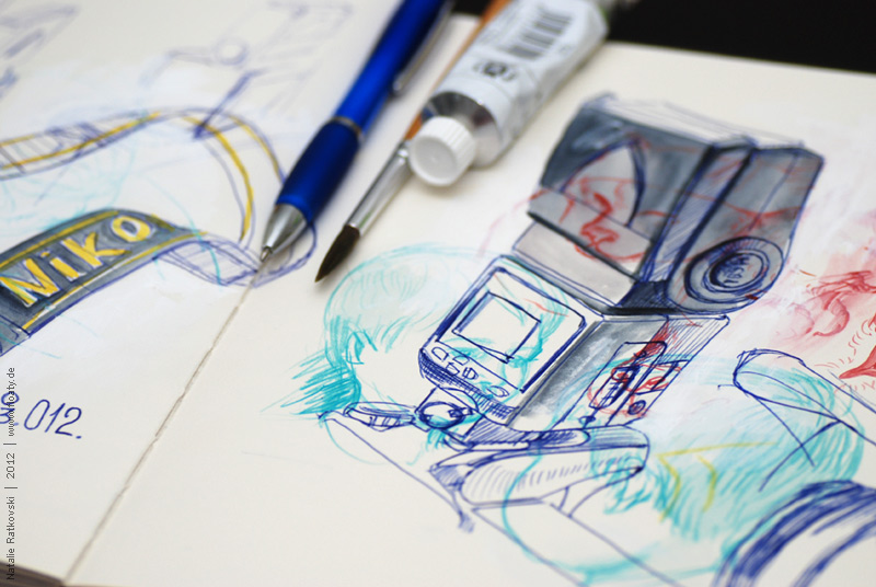 My sketch flash mob: Photo camera, detail