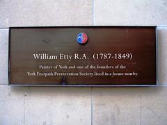 Photo of William Etty bronze plaque