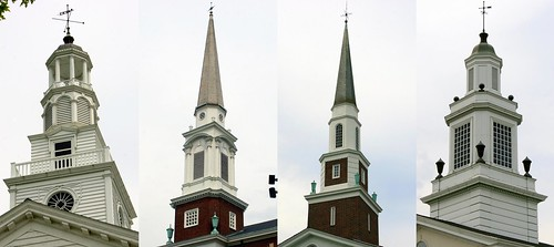 Kingsport, TN: Steeples of Church Circle.