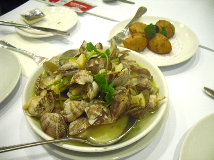 clams in lemon