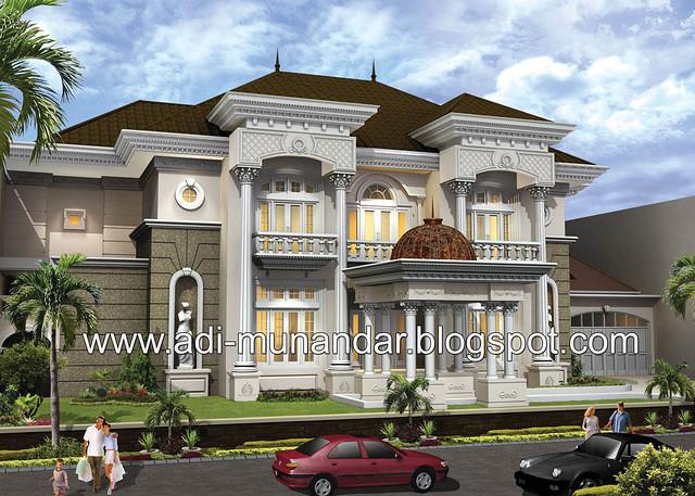 desain arsitektur klasik eropa untuk rumah tinggal klasik