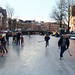 Children discover the joy of ice skating in Amsterdam