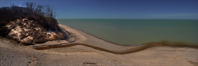Kintzele Ditch Empties into Lake Michigan