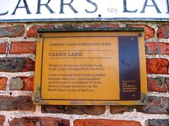 Photo of John Carr yellow plaque