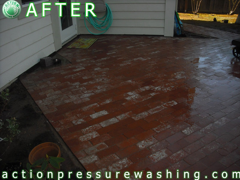 After Brick Patio Pressure Washing | Before and After pics o