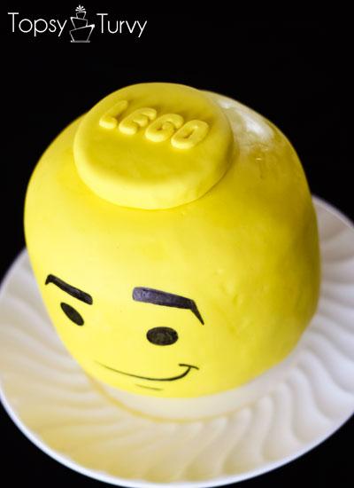 Lego Head Cake Tutorial Ashlee Marie Real Fun With