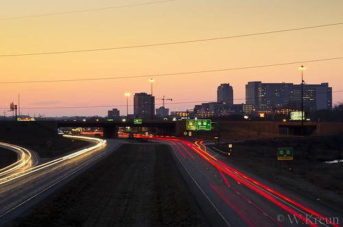 sunrise dawn rochester carlights highway14