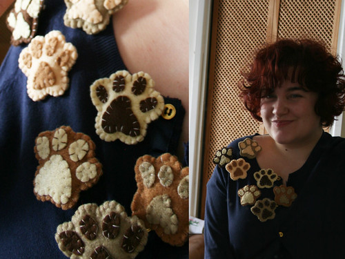 Paws brooch