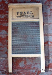 vintage antique pearl glass laundry wash board reproduction